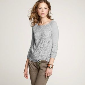 J.Crew Lady Lace Popover Sweater